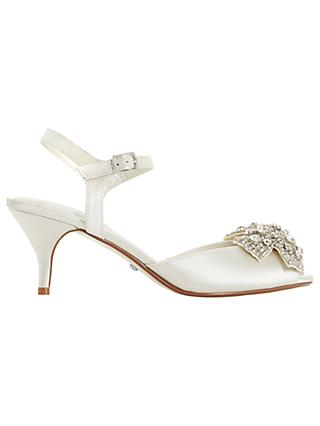 2d3dd6807b4a2 Dune Bridal Collection Majestie Kitten Heel Sandals, Ivory Satin