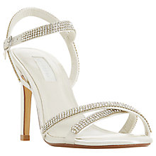 Buy Dune Bridal Collection Madallenna Embellished Sandals, White Online at johnlewis.com