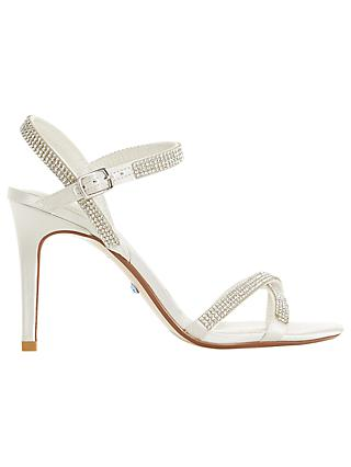 Dune Bridal Collection Madallenna Embellished Sandals, Ivory