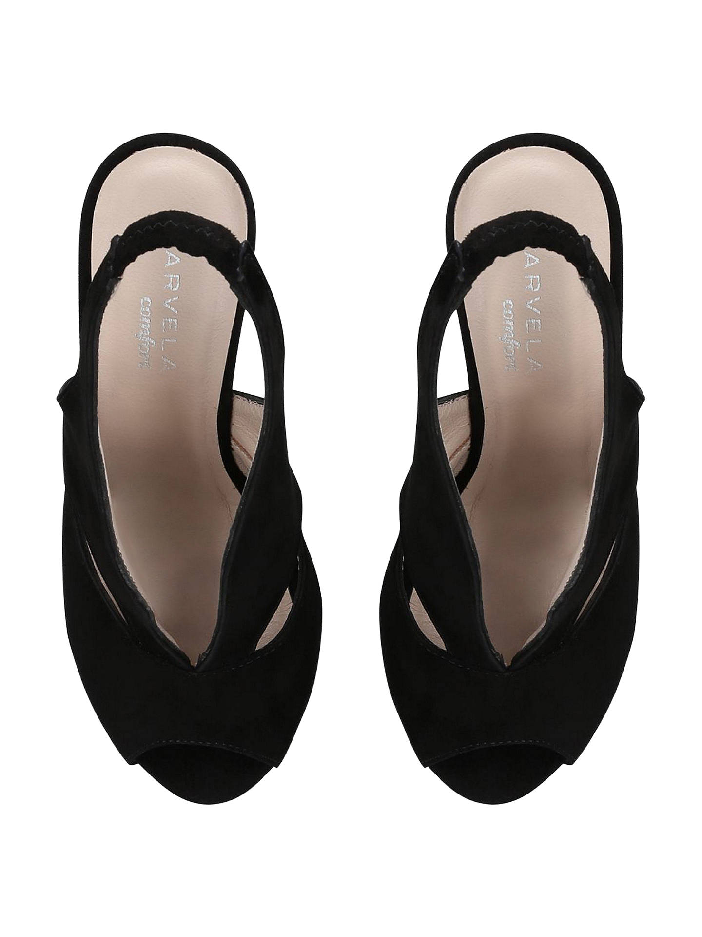 BuyCarvela Comfort Alexa Mid Heel Wedges, Black, 3 Online at johnlewis.com