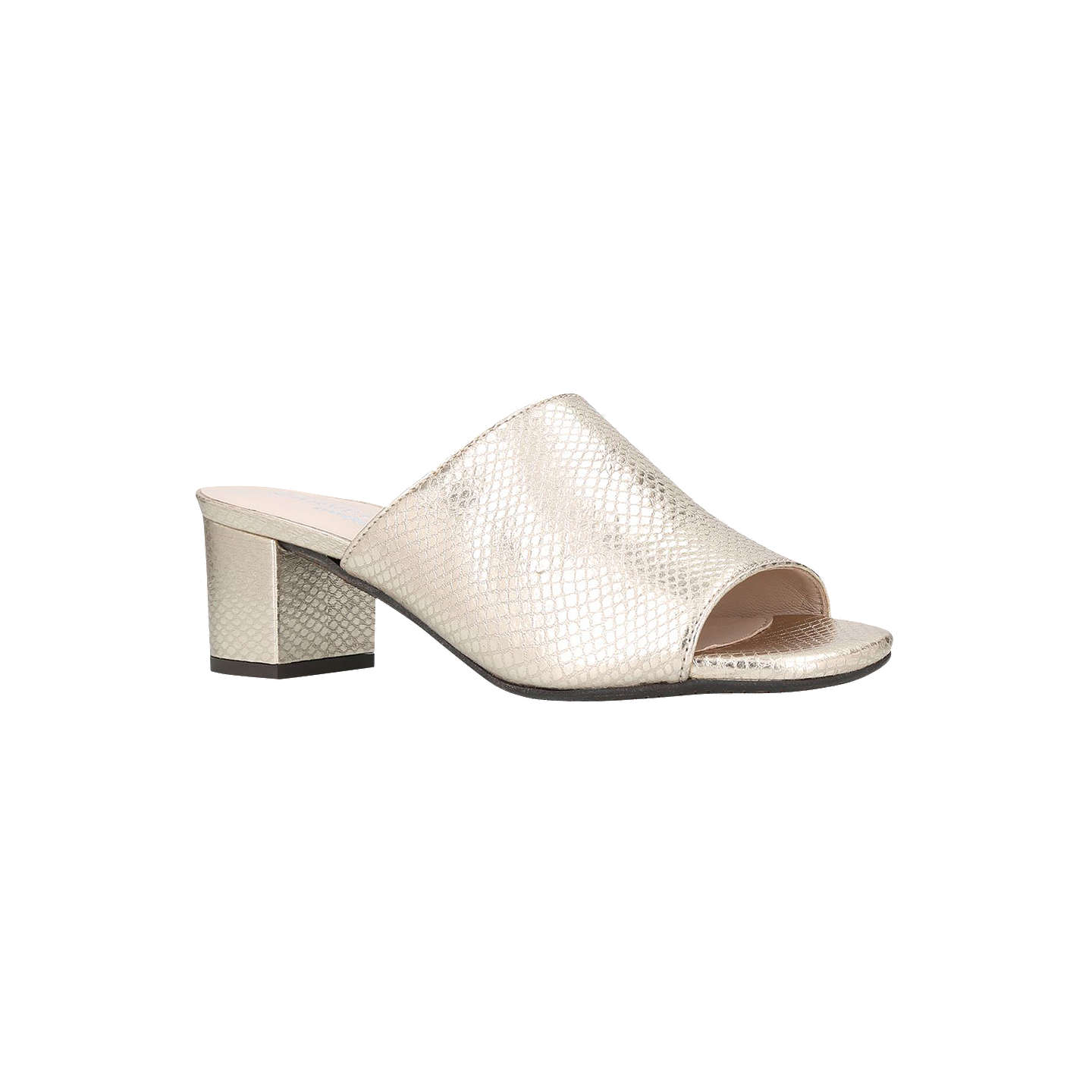 BuyCarvela Comfort Abby Block Heel Sandals, Gold Leather, 3 Online at  johnlewis.com ...