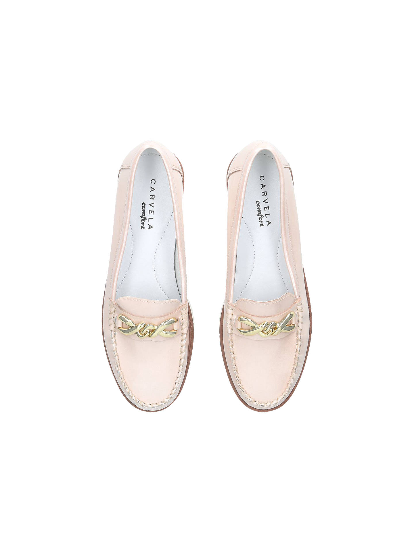 BuyCarvela Casper Loafers, Nude Leather, 3 Online at johnlewis.com