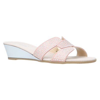Carvela Comfort Sade Wedge Heeled Sandals, Nude Suede