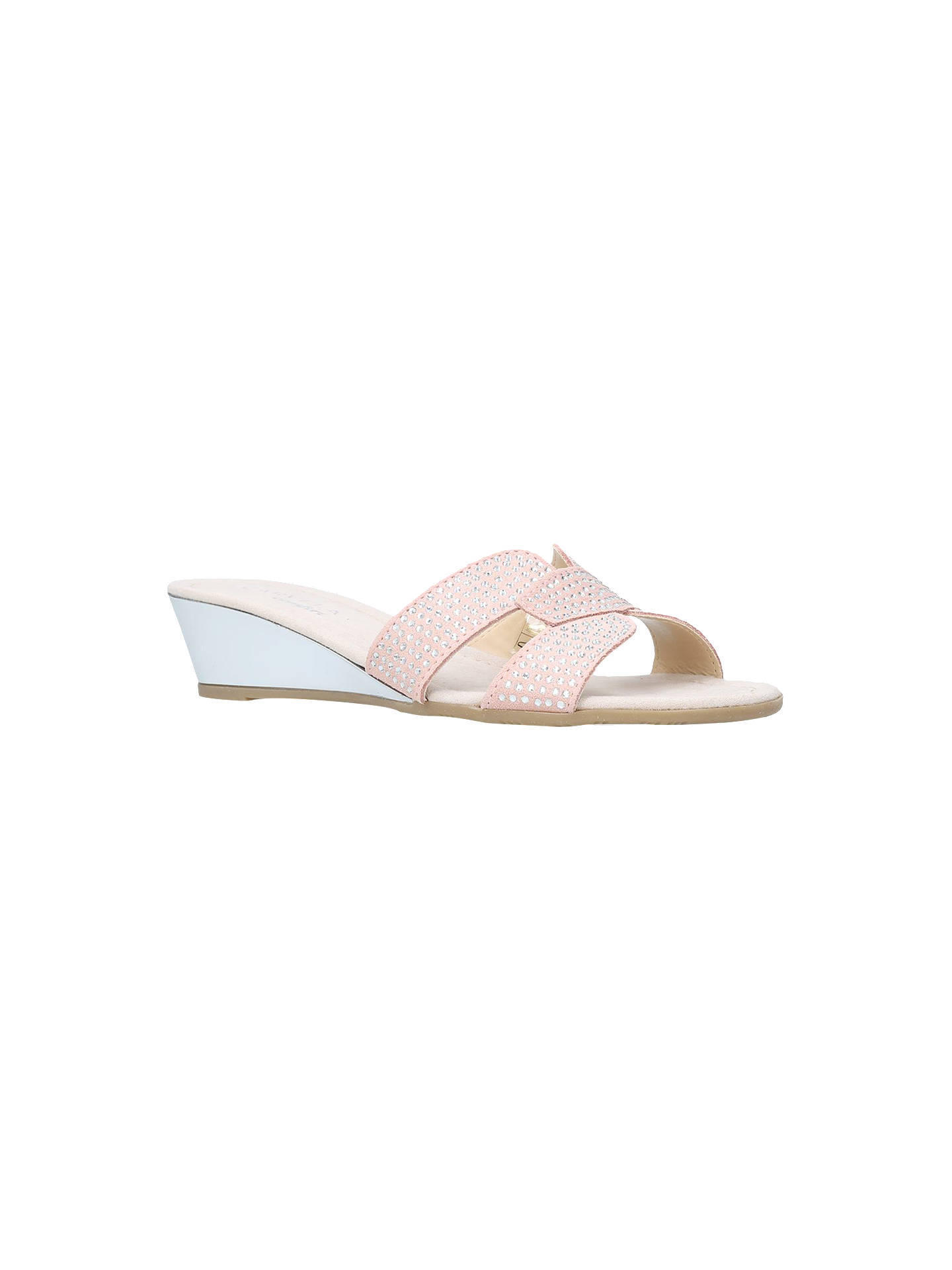 BuyCarvela Comfort Sade Wedge Heeled Sandals, Nude Suede, 3 Online at johnlewis.com
