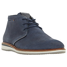 Buy Dune Chadwell Suede Chukka Boots, Blue Online at johnlewis.com