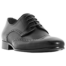 Buy Dune Puglia Leather Derby Brogues, Black Online at johnlewis.com