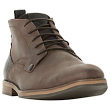Buy Dune Campari Chukka Boots, Brown Online at johnlewis.com