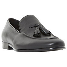 Buy Dune Pacy Leather Tassel Loafers, Black Online at johnlewis.com
