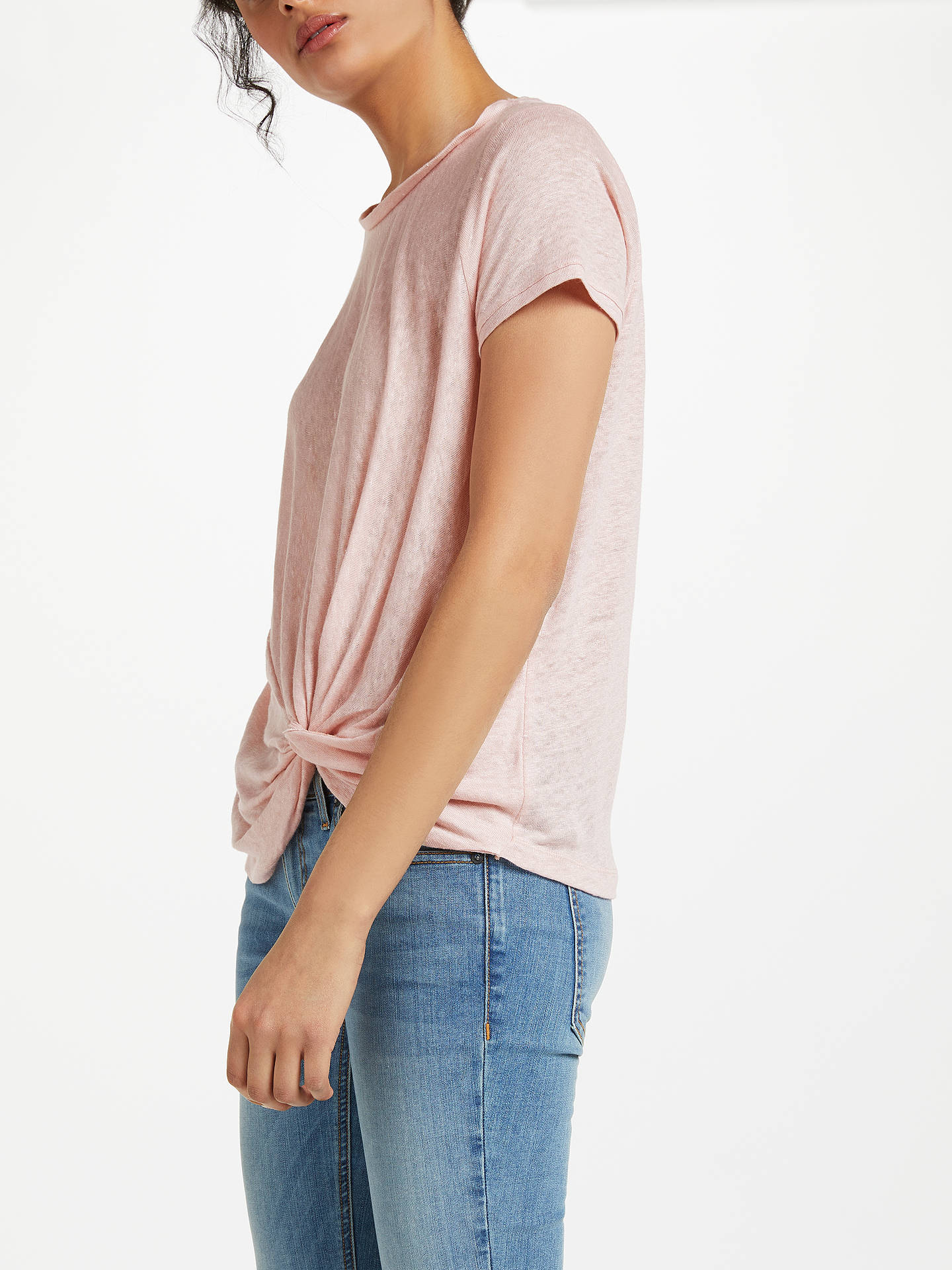 BuyAND/OR Knot Hem Linen Top, Desert Pink, 8 Online at johnlewis.com