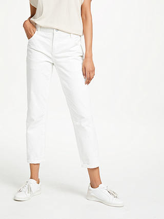 Buy AND/OR Venice Beach Boyfriend Jeans, White, 26 Online at johnlewis.com