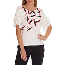 Buy Betty & Co. Graphic Print Top, Cream/Dark Red Online at johnlewis.com