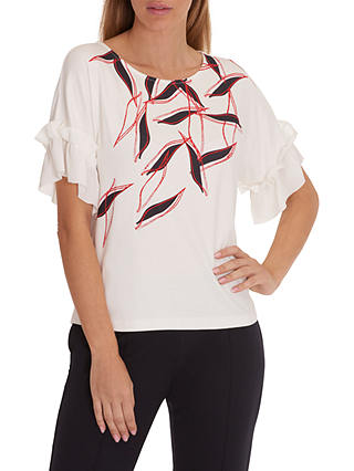 Buy Betty & Co. Graphic Print Top, Cream/Dark Red, 10 Online at johnlewis.com