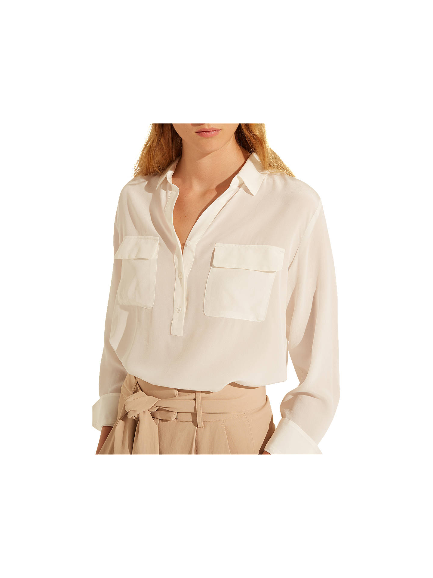 Buy Gerard Darel Carlin Blouse, White, 6 Online at johnlewis.com