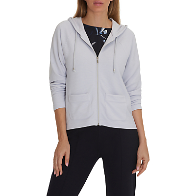 Betty & Co. Fine Ribbed Cardigan, Light Silver