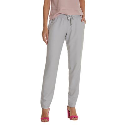 Betty & Co Drawstring Trousers, Light Silver Melange