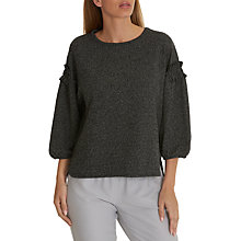 Buy Betty & Co. Tweed Effect Top, Grey/White Online at johnlewis.com