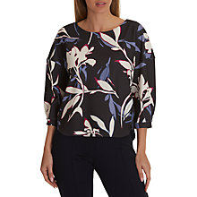 Buy Betty & Co. Floral Print Top, Grey/Cream Online at johnlewis.com