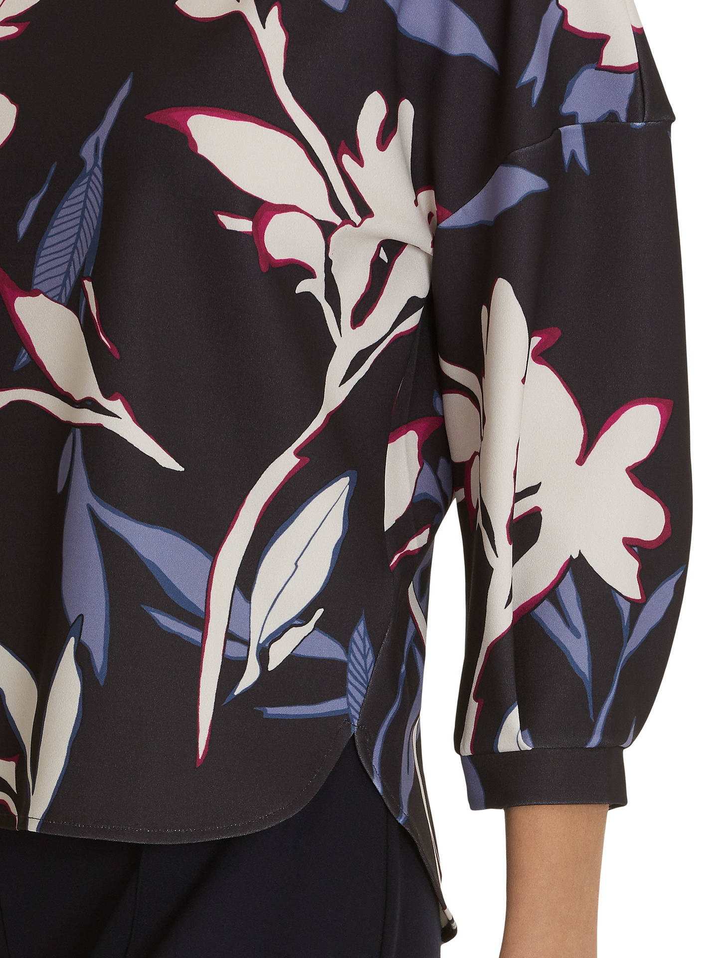 BuyBetty & Co. Floral Print Top, Grey/Cream, 10 Online at johnlewis.com