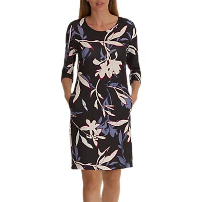 Betty & Co. Floral Print Jersey Dress, Grey/Cream