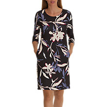 Buy Betty & Co. Floral Print Jersey Dress, Grey/Cream Online at johnlewis.com