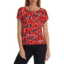 Buy Betty & Co. Short Half Sleeve Shirt, Red/ Blue Online at johnlewis.com