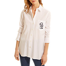 Buy Gerard Darel Carla Cotton Shirt, White Online at johnlewis.com