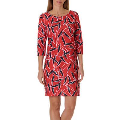 Betty & Co. Graphic Print Jersey Dress, Blue/Red