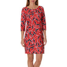 Buy Betty & Co. Graphic Print Jersey Dress, Blue/Red Online at johnlewis.com