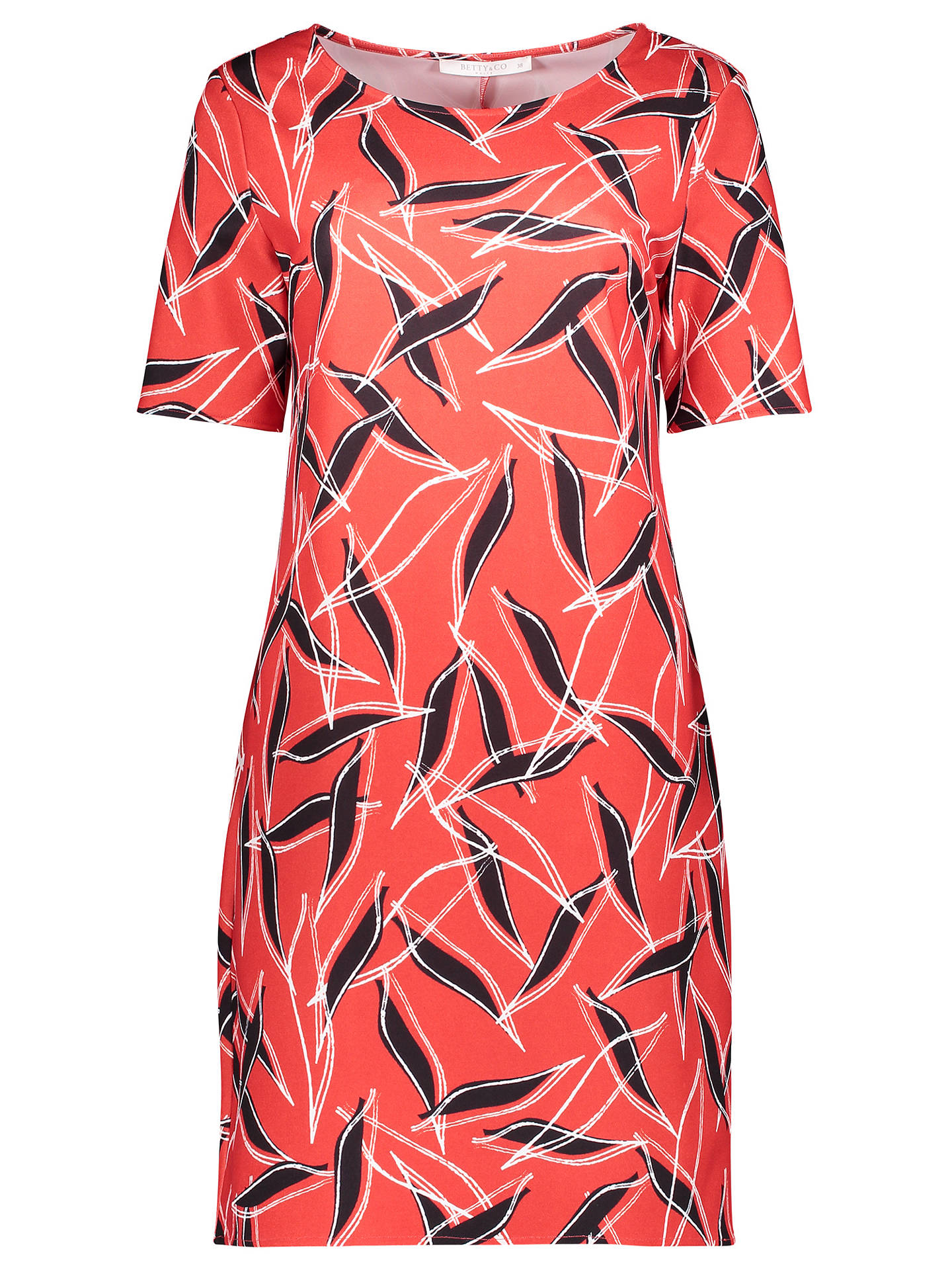 Buy Betty & Co. Graphic Print Jersey Dress, Blue/Red, 10 Online at johnlewis.com