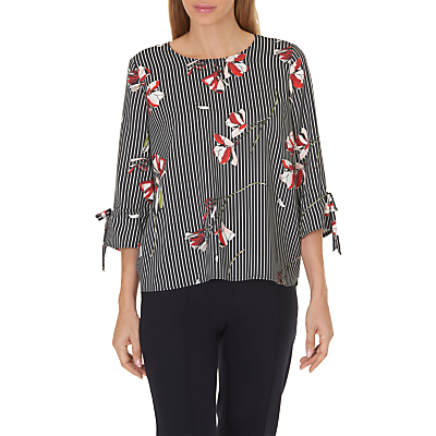Betty & Co. Floral Blouse, Dark Blue/Cream