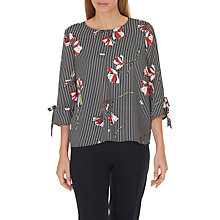 Buy Betty & Co. Floral Blouse, Dark Blue/Cream Online at johnlewis.com