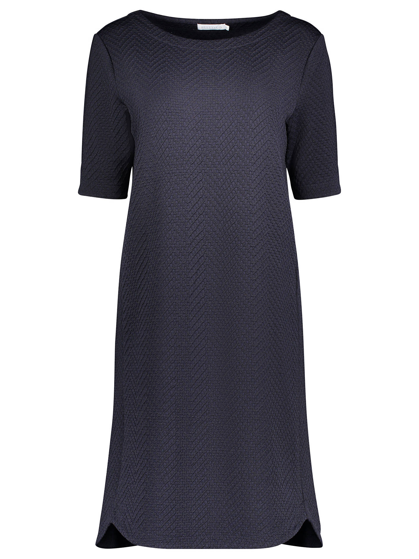 Buy Betty & Co. Textured Jersey Dress, Night Sky, 10 Online at johnlewis.com