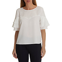 Buy Betty & Co. Lace Trimmed Blouse, Snow White Online at johnlewis.com