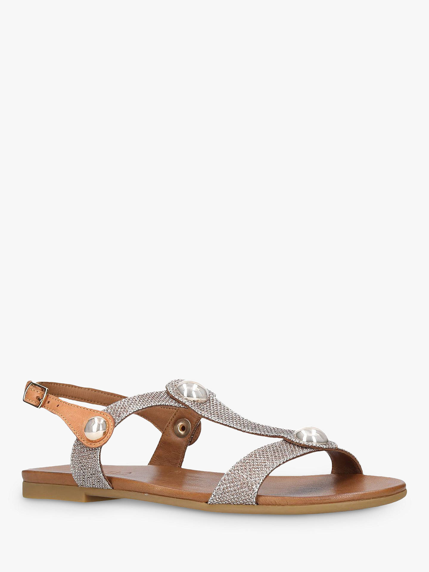 BuyCarvela Comfort Saz Flat Open Toe Sandals, Metallic Gold, 3 Online at johnlewis.com