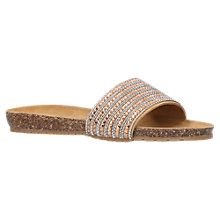 Buy Carvela Comfort Bronze Suede Slip On Sandals, Bronze Online at johnlewis.com