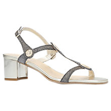 Buy Carvela Comfort Sammie T-Bar Block Heel Sandals, Gold Online at johnlewis.com