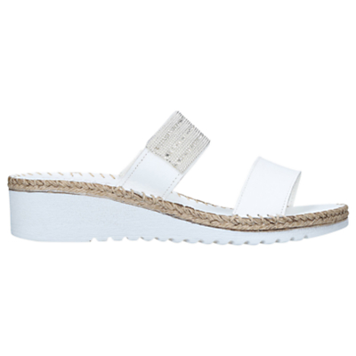 Carvela Comfort Sash Open Toe Sandals, White Leather