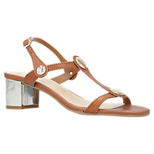 Buy Carvela Comfort Sammie T-Bar Block Heel Sandals, Tan Online at johnlewis.com