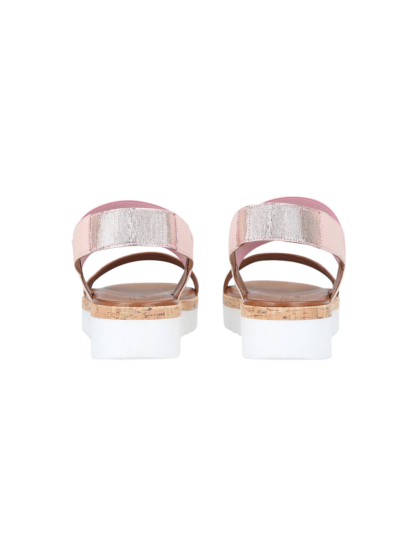 BuyCarvela Comfort Sylvia Flatform Sandals, Bronze Leather, 3 Online at johnlewis.com