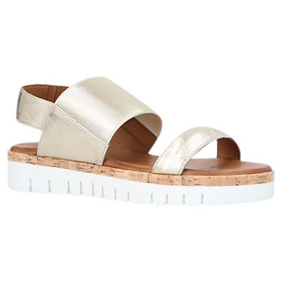 Carvela Comfort Sylvia Flatform Sandals, Gold Leather