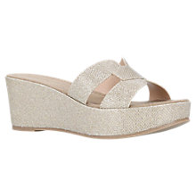 Buy Carvela Comfort Shelby Flatform Sandals, Gold Online at johnlewis.com