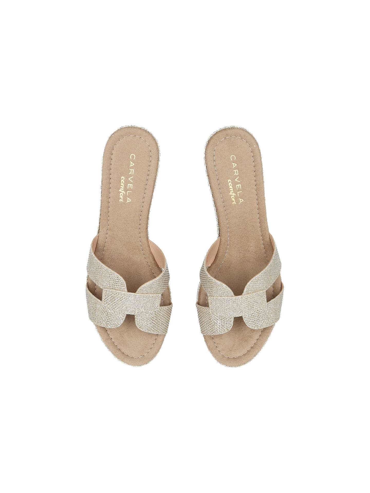 BuyCarvela Comfort Shelby Flatform Sandals, Gold, 3 Online at johnlewis.com