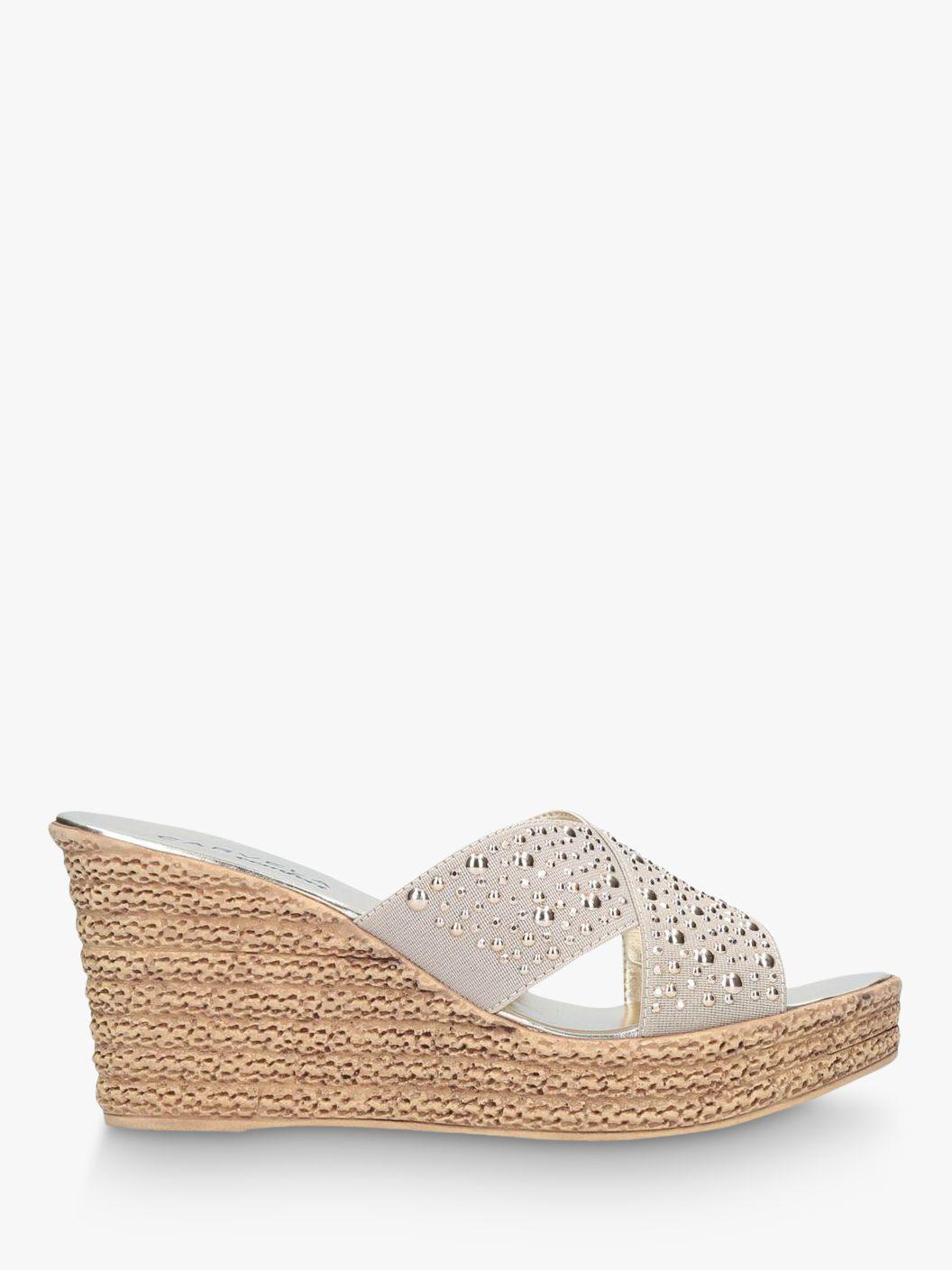 Carvela Carvela Comfort Stephanie Wedge Heel Sandals, Gold