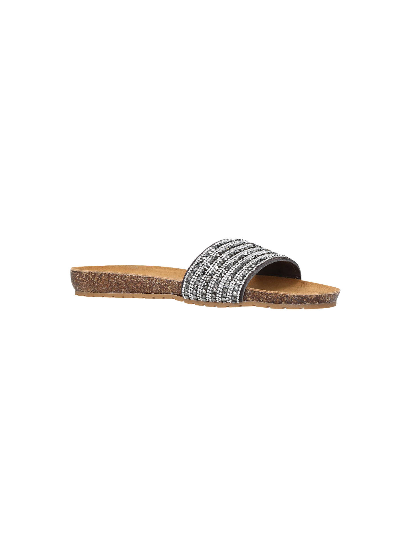 BuyCarvela Comfort Super Suede Slip On Sandals, Pewter, 5 Online at johnlewis.com