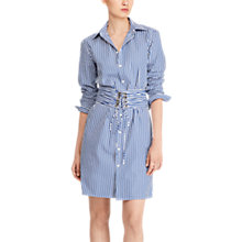 Buy Polo Ralph Lauren Poplin Corset Shirt Dress, Blue/White Online at johnlewis.com