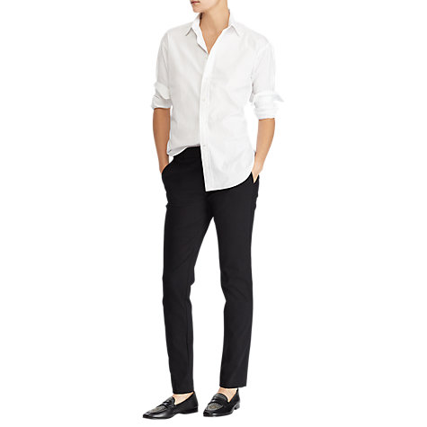 Buy Polo Ralph Lauren Classic Long Sleeve Shirt, White Online at johnlewis.com