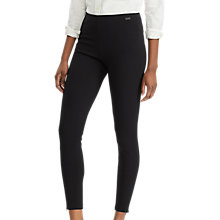 Buy Polo Ralph Lauren Stretch Ponte Skinny Trousers, Black Online at johnlewis.com