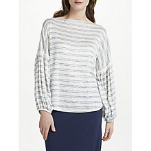Buy Max Studio Bell Sleeve Lightweight Stripe Jumper, Navy/Ivory Online at johnlewis.com