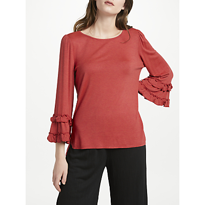 Max Studio Frill Sleeve Jersey Top