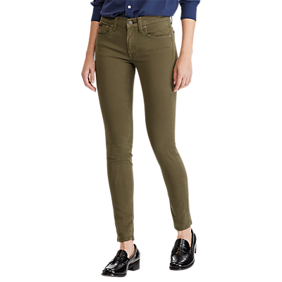 Polo Ralph Lauren Sateen Skinny Jeans, Olive